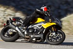 I'm a Ducati girl to the core, but the Aprilia Tuono is a badass bike. I wouldn't kick it out of my garage.