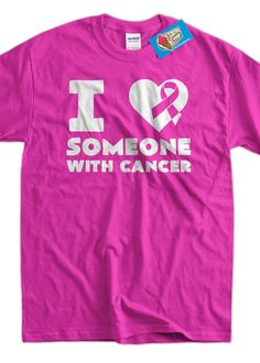 Cancer support t Shirt  breast cancer I heart by IceCreamTees, $14.99