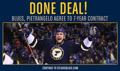 Seven more years of that face. Thank you Blues.