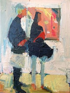 Couple with Park painting 12 x 16 oil on canvas 2015