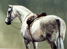"""Janet Crawford """"Shades of Grey"""". Equine art"""