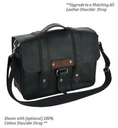 15 Black Sierra Voyager Laptop Bag  by CopperRiverBags on Etsy