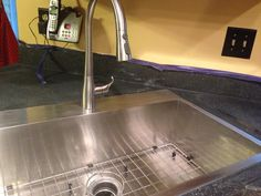 Water creation zero radius sink and kohler Simplice faucet. Faucet, Kitchen Remodel, Zero, Sink, Water, Home Decor, Sink Tops, Gripe Water