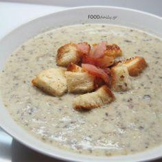 Μανιταρόσουπα Super!!  (Mushroom Soup) Mushroom Soup, Oatmeal, Stuffed Mushrooms, Favorite Recipes, Breakfast, Recipe Ideas, Greek, Food, The Oatmeal
