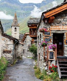 Bonneval-sur-Arc, Maurienne Valley in the French Alps of Savoie.