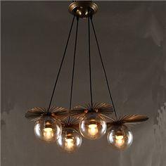 pendelleuchte mit lila glas schirm 3 flammig lighting. Black Bedroom Furniture Sets. Home Design Ideas