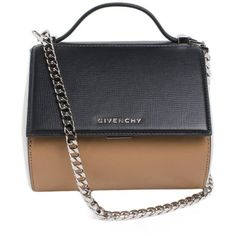 """Givenchy Mini """"Pandora Box-Chain"""" Leather Clutch ($1,525) ❤ liked on Polyvore featuring bags, handbags, clutches, multicolor, real leather handbags, mini leather handbags, colorful handbags, mini handbags and mini pochette"""