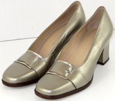 Enzo Angiolini 8M Pumps Leather Nickel with Silver Buckles  #EnzoAngiolini #PumpsClassics #WeartoWork