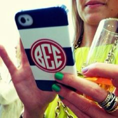I want a personalized cell phone cover- monogram me please.
