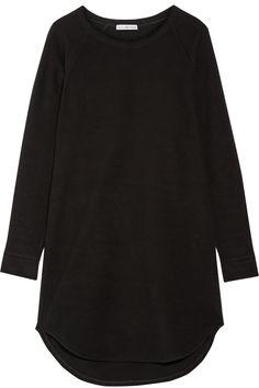 James Perse | Stretch-fleece mini dress | NET-A-PORTER.COM