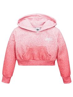 Hype Girls Cropped Hoodie - Pink Cute Spring Outfits, Cute Girl Outfits, Pink Outfits, Cute Outfits For Kids, Outfits For Teens, Cool Outfits, Fashion Outfits, 10 Years Girl, 4 Years