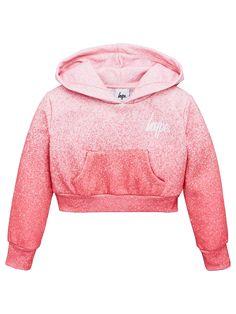 Hype Girls Cropped Hoodie - Pink