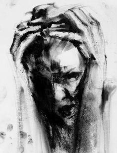 art surrealista What Depression Looks Like in - art Dark Art Drawings, Art Drawings Sketches, Girl Drawings, Arte Horror, Horror Art, Life Drawing, Painting & Drawing, Human Drawing, Depression Art