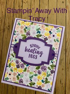 The is a clean, simple layout that makes a beautiful card! Vintage Birthday Cards, Handmade Birthday Cards, Paper Cards, Diy Cards, Cardmaking And Papercraft, Card Sentiments, Making Greeting Cards, Get Well Cards, Pretty Cards