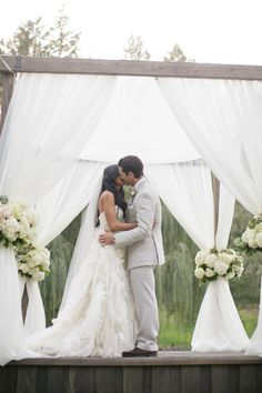 #chuppah, #draping  Photography: Weddings By Sasha - www.weddingsbysashagulish.com  Read More: http://www.stylemepretty.com/california-weddings/2014/11/17/romantic-napa-valley-fall-wedding/