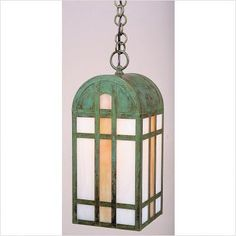 "Arroyo Craftsman YH Yorktown Outdoor Hanging Lantern by Arroyo Craftsman. $284.76. Arroyo Craftsman YH Features: -Yorktown collection. -Available in several finishes. -Only offered with gold white iridescent - white opalescent combination (GWC) glass. -Hanging lantern with chain. -UL listed. -Suitable in damp location. Specifications: -Accommodates: 1 x 100W medium incandescent bulb. -Mounting base: 4.25"" W x 4.25"" D. -Available sizes:. -YH-10 Overall dimensions: 23"" H x 10"" ..."