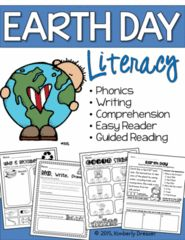 Earth Day is coming! Literacy-themed Earth Day packet. - With twenty-seven pages of literacy activities including phonics, word family practice, nonsense word fluency, writing, and easy reader activities..  A GIVEAWAY promotion for Earth Day Literacy Activities. Phonics, Writing