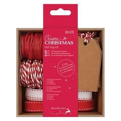 ((((A NEW ITEM)))) Docrafts Christmas Gift Tag Kit (Red)