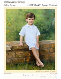 Heirloom oil painting by LEON LOARD™ Oil Portraits Artist Jie Ruan, Child, Gallery Canvas, Boy, 500739-A