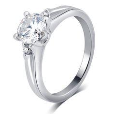 Divina 14k White Gold 1ct TDW IGL Certified Diamond Engagement Ring (G-H, SI-I1) (US-7 : White), Women's, Size: 7