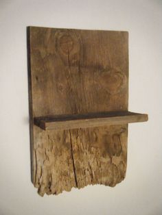 Rustic barn wood shelf by gsnow1 on Etsy, $40.99