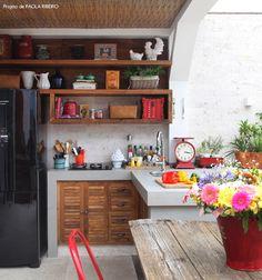 outdoor kitchen #decor #cozinhas #kitchens