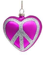 Peace sign ornament.