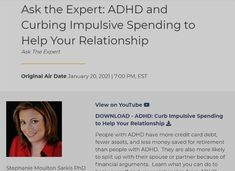 Adhd Symptoms, Managing Your Money, Money Matters, Problem Solving, Medical, Relationship, Learning, Couples, Medicine
