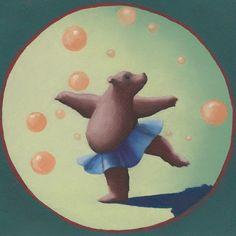 Dancing Bear Canvas Art