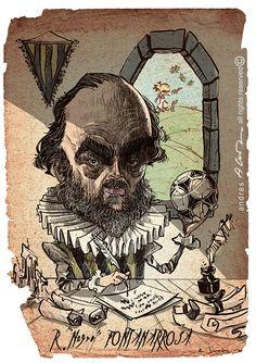 Roberto Fontanarrosa - ilustracion digital - revista Caras & Caretas Skull, Art, Digital Illustration, Journals, Caricatures, Illustrations, Black, Art Background, Kunst