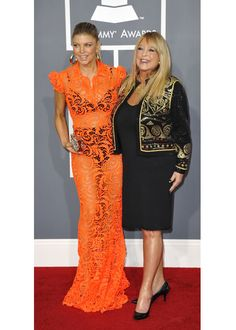 Fergie and her Mother, Terri Gore.