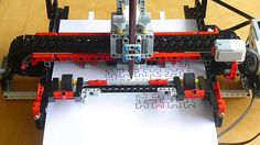 This is my LEGO® plotter that I'm designing. This is an early experiment with it to draw a Hilbert curve. Programming the curve in the EV Home Edition softwa. First Lego League, Educational Robots, Lego Machines, Lego Mindstorms, Diy Tech, Simple Machines, Lego Projects, Lego Instructions, Science Fair
