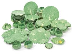 C.Z. Guest's Collection of Dodie Thayer Lettuce Ware at Sotheby's- The Glam Pad