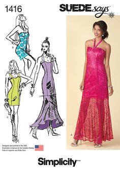 Simplicity Creative Group - Misses' Special Occasion Dresses SUEDEsays Collection - Cute spring/summer dress...