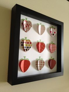 Red+Strawberry+3D+Paper+art+by+PaperLine+on+Etsy,+$35.00
