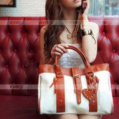 Korean Fashion Style Women:s Hobo PU leather Handbag Shoulder Bag White FB0103