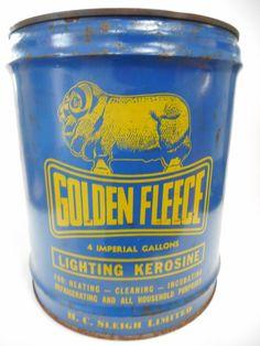 Old Golden Fleece Service Station 4 Gallon Lero can