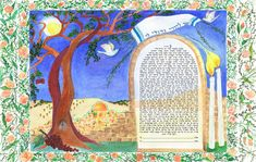 A Life of Roses Ketubah by Veronique Jonas