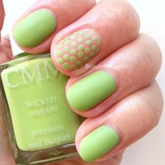 ColorMeMonthly? - July - Wicked Wasabi. Check out more looks by 'beautybykrystal' on http://bellashoot.com