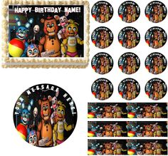 FIVE NIGHTS AT FREDDY'S New Generation Edible Cake Topper Image Frosting Sheet…