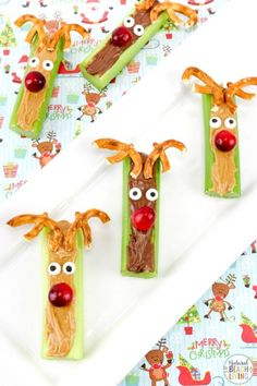 Rudolph Celery Snacks