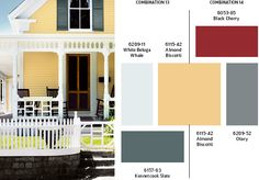 Exterior Paint colors.....I like that shade of yellow....