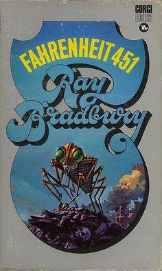 Fahrenheit 451 - Ray Bradbury - Cover by the amazing Bruce Pennington