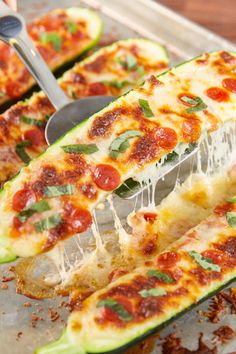 Pizza Stuffed Zucchini: It's healthy and cheesy, what else could you ask for?