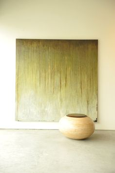 Melissa Key painting with Morgan Robinson sculpture Abstract Landscape, Abstract Art, Abstract Paintings, Large Artwork, Keys Art, Spanish Moss, Art And Architecture, Painting Inspiration, Artsy Fartsy
