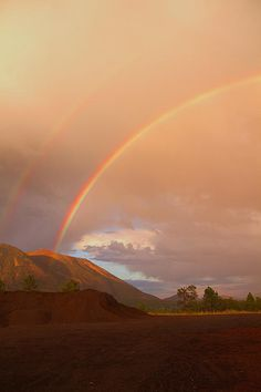 Rainbow over Buffalo Park, Flagstaff, Arizona by Tom Kelly