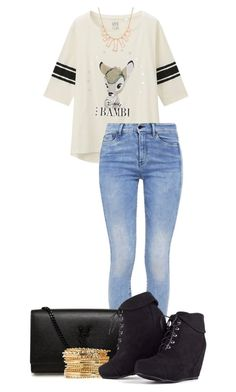 """""""Untitled #316"""" by mercedes-designs on Polyvore featuring Uniqlo, G-Star, Yves Saint Laurent and Rivka Friedman"""