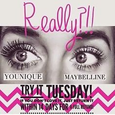 Time to try Younique mascara.  I know you will love the length and volume that you will get from this mascara that you can't get from any other mascara.  Much better for your eyes than false lashes or extensions and much more affordable too.  #youniquemascara https://www.youniqueproducts.com/lashestothemax/products/view/US-11101-02#.VbGY7PljpaY