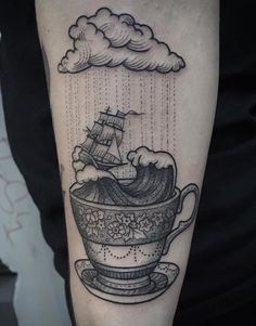 Storm in a tea cup tattoo