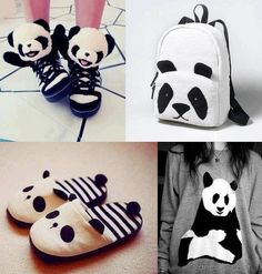 Cute adorable panda fashion :3